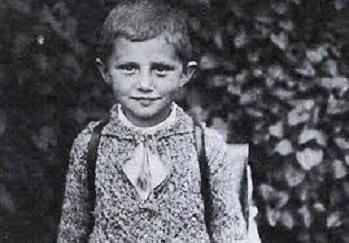 Benedicto XVI de niño