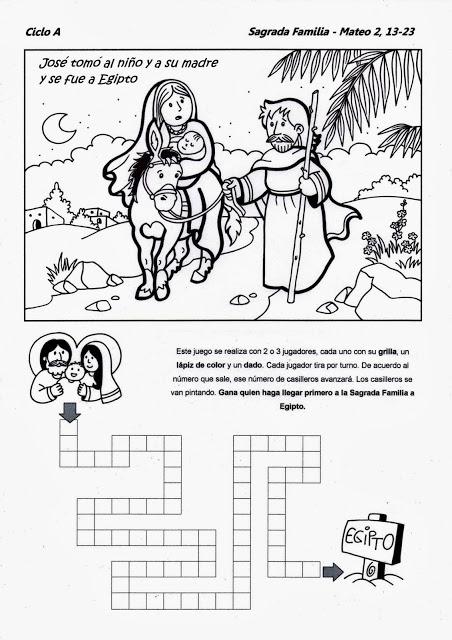 La Sagrada Familia Jesús María Y José Domingo Dentro A