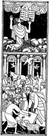 Jesús expulsa a los mercaderes del templo de Jerusalén