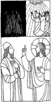 Jesús elevado en la cruz como Moisés elevó la serpiente en el desierto