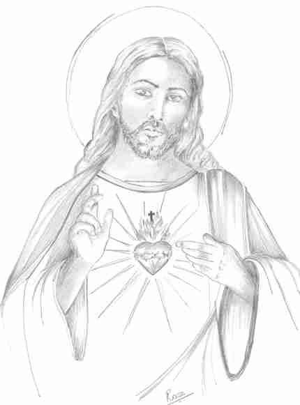 Resultado de imagen para dibujo sagrado corazon de jesus