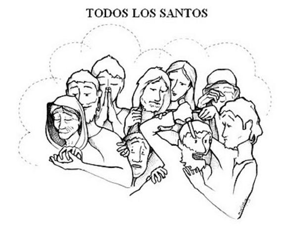 Santos Catolicos Para Colorear