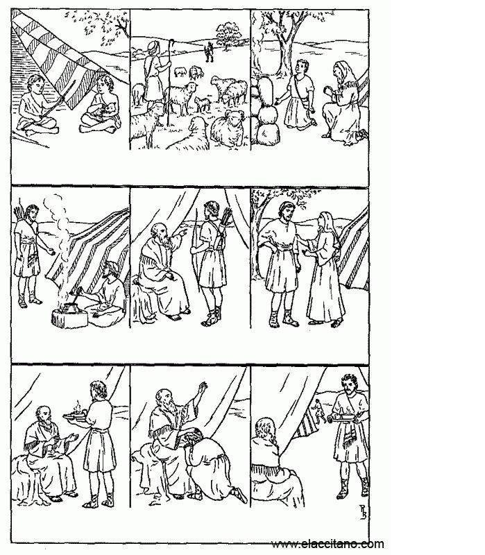 Encantador Jacob Y Esau Para Colorear Imágenes Componente - Ideas ...
