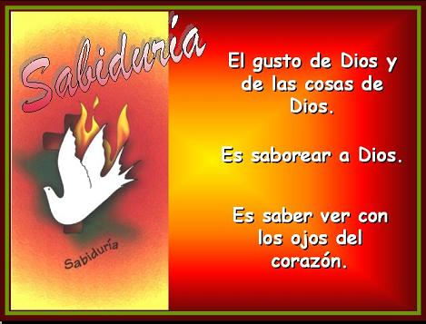 SAbiduría: Don del Espíritu Santo