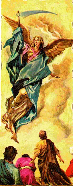 Pinturas Bíblicas Apocalipsis Ap 14 15 Hoz Guadaña Imágenes Y Pinturas Del Libro Del Apocalipsis Para Entrar En La Escrituras Y Hacerse Amigos De La Palabra De Dios Que Está En