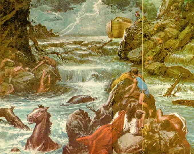 ... que al séptimo día las aguas del diluvio fueron sobre la tierra
