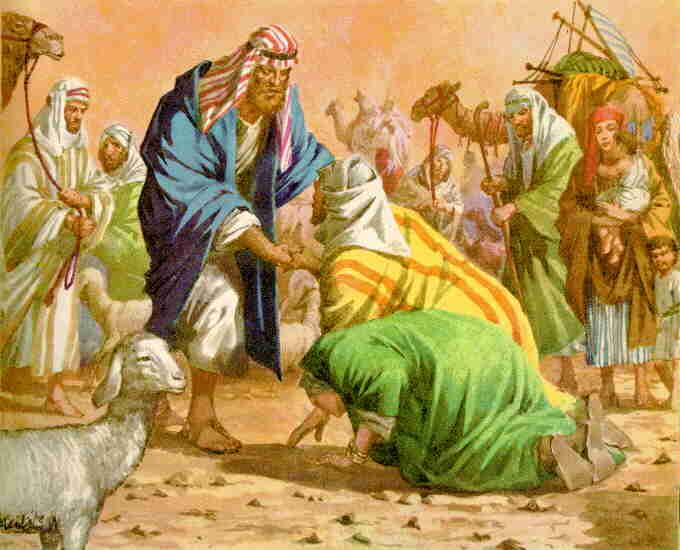Restaurar Matrimonio Biblia : Genesis gen encuentro de esa y jacob grficos