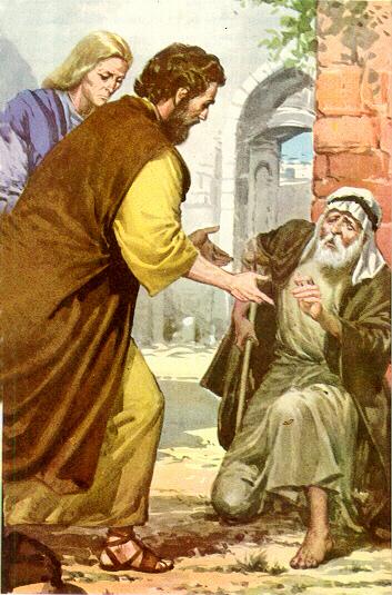 Hechos - Hechos 3:4 Cojo - Gráficos, imágenes, caricaturas
