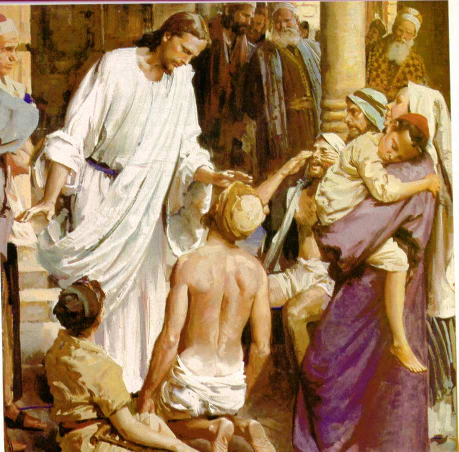 Free Pictures of Jesus Healing the Sick