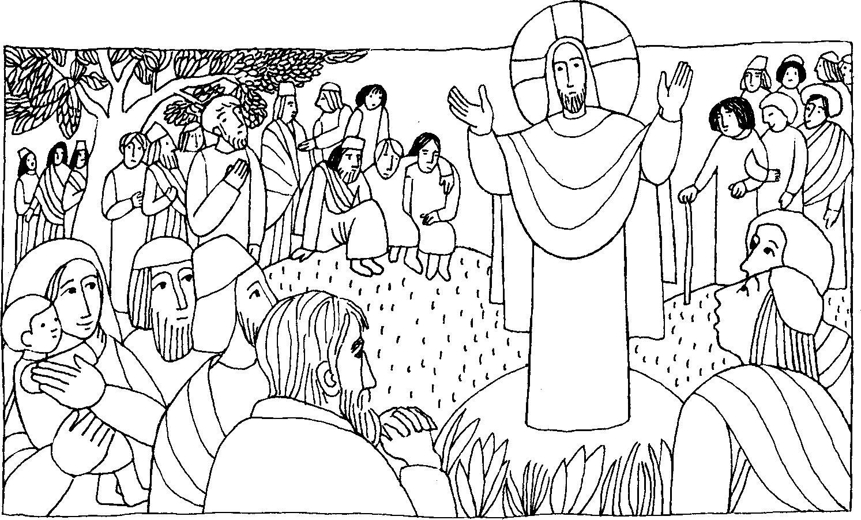 Dibujos De Las Misiones: Santa Misa Dibujo Para Colorear