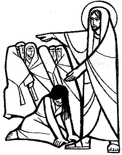 Domingo 4 de Cuaresma C. La mujer pecadora. Gráficos, Dibujos ...